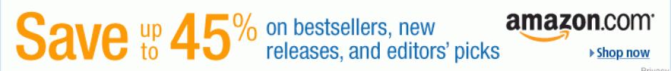 Save 45% on Bestsellers on Amazon